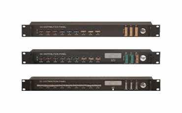 1U RACK MOUNT DC Distribution Panels 12V 24V 48V with Remote communications SNMP TCP/IP