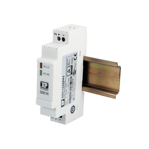 DDC15 - DIN Rail DC Converter: 15W 24VDC