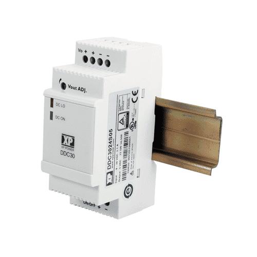 DDC30 - DIN Rai Mounted DC Converter: 30W - 5V, 9V, 12V, 15V or 24V output voltage options XP Power