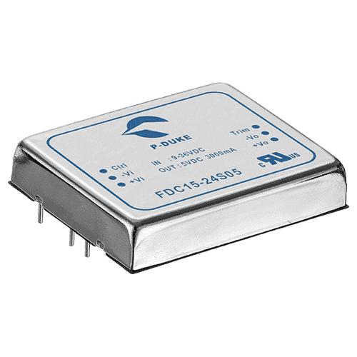 SLP-FDC15 - DC/DC Converter Single & Dual Output: 15W Output voltage options: 5V, 12V, 15V, ± 15 V, ± 12 V.
