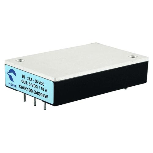QAE100W - DC/DC Converter Quarter-Brick Single Output : 90W Railway Application
