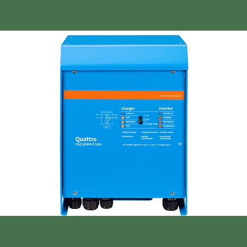 QUATTRO3kVA-15kVA - DC/AC Inverters/ Chargers Lithium Ion Battery Compatible : 3kVA-15kVA