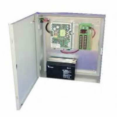 BW54 Wall Mount Battery Charger for Security Applications 70W - 140W. 12V & 24V output voltage options, with internal batteries and options distribution board.