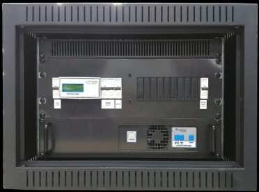 CAB364 is a 500W 24VDC battery charging system in a 6U 19 inch wall mount cabinet.