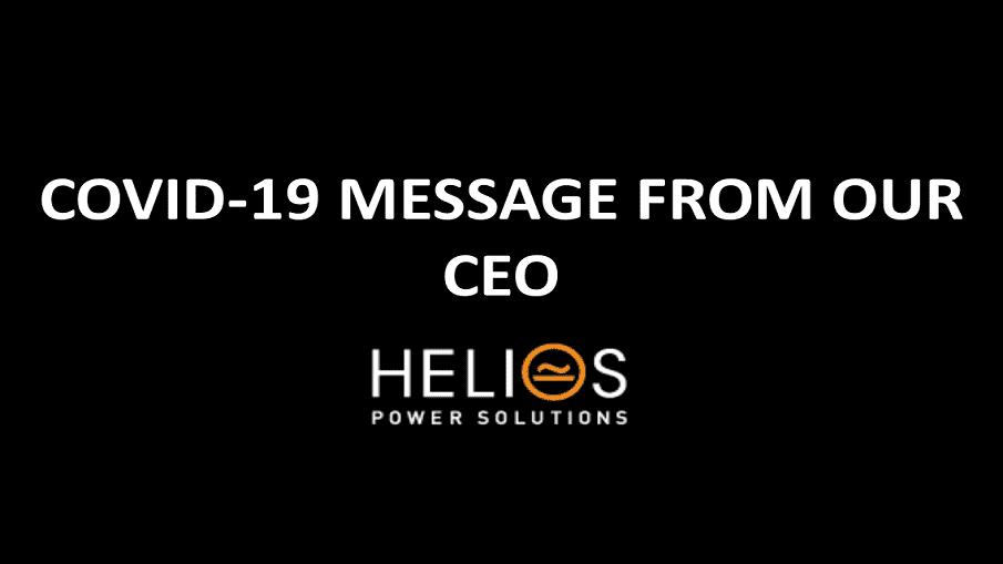 Helios Power Solutions Coronavirus Official Statement