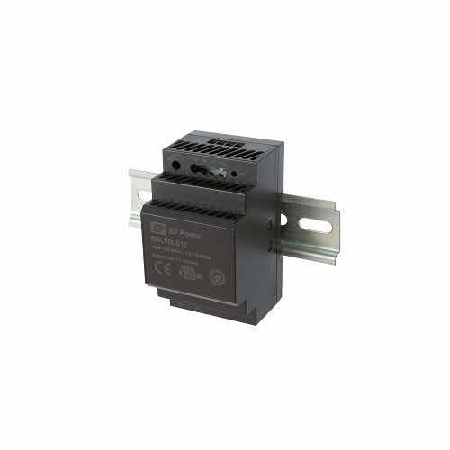 DRC60 Series 60W DIN Rail AC-DC Power Supply Universal input range 85 to 264VAC, 120 to 370VDC